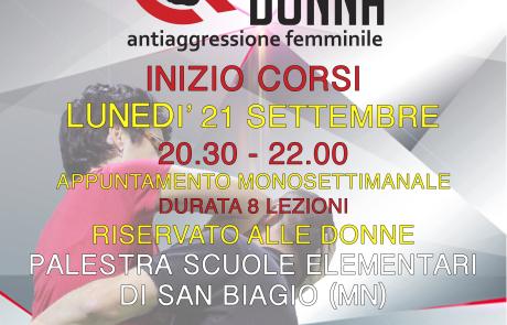 Corso Difesa Donna Antiaggressione Femminile a Bagnolo San Vito (Mantova)