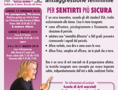 Corso serale di antiaggressione femminile a Sesto San Giovanni (Milano)
