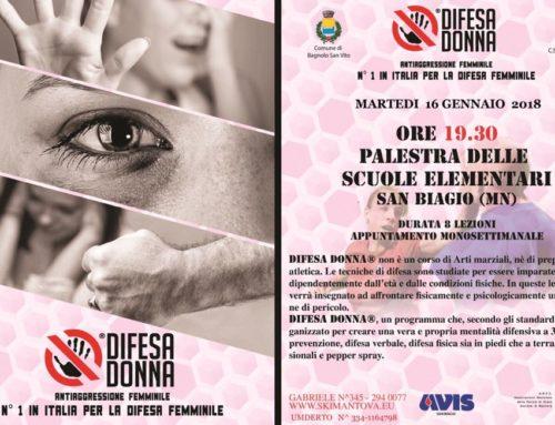 Corso serale di antiaggressione femminile a Bagnolo San Vito (Mantova)