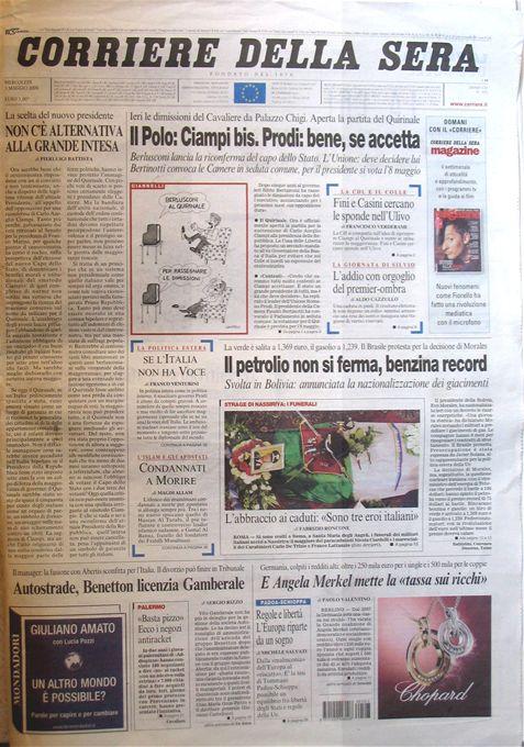 Corriere della Sera – 03 Maggio 2006