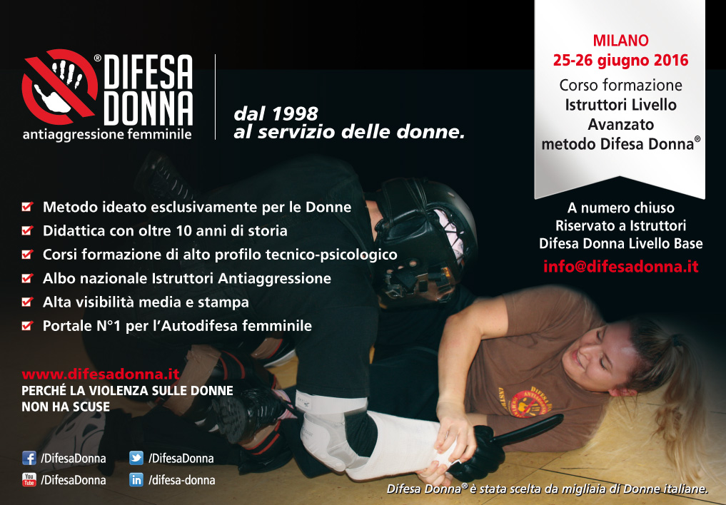 Corso Formazione Istruttori  di Antiaggressione femminile Livello Avanzato a Sesto San Giovanni (MI)